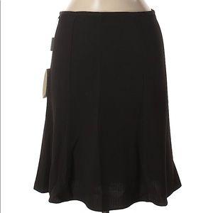 BNW Emporio Armani Black A-line Ruffle Skirt